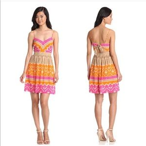 Trina Turk Gympsum Silk Sleeveless Dress Patterned